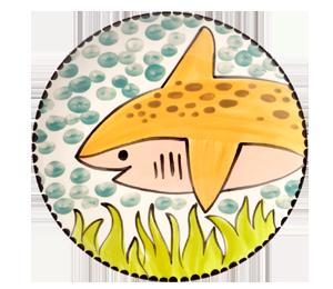 Torrance Happy Shark Plate